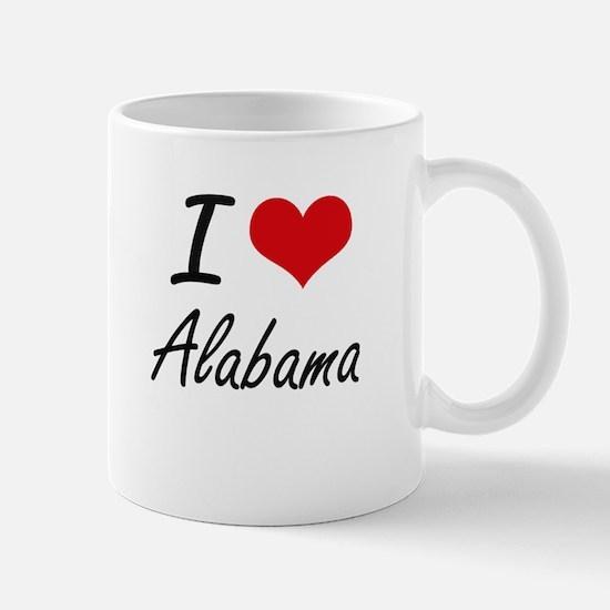 I Love Alabama Artistic Design Mugs