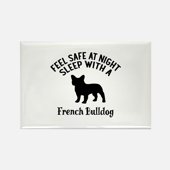 Sleep With French bull Dog Design Rectangle Magnet
