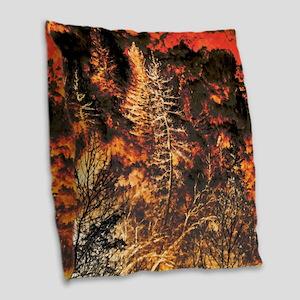 Wildfire! Burlap Throw Pillow