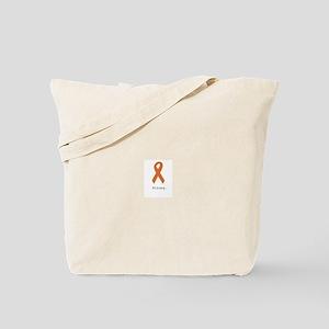 Strong. Orange ribbon Tote Bag
