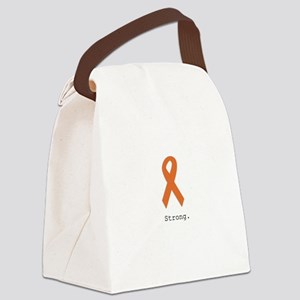 Strong. Orange ribbon Canvas Lunch Bag