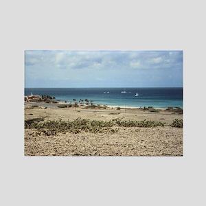 Aruba Ocean View Rectangle Magnet