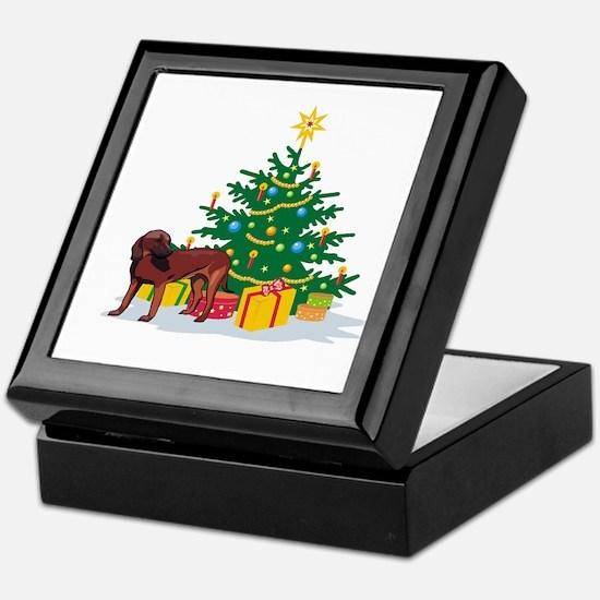 Brown Dog Christmas Keepsake Box