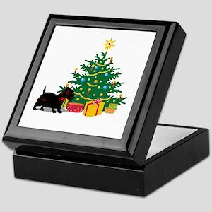 Scottish Terrier Christmas Keepsake Box