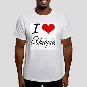 I Love Ethiopia Artistic Design T-Shirt