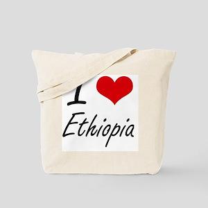 I Love Ethiopia Artistic Design Tote Bag