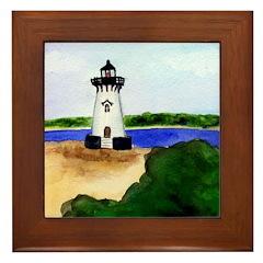 Edgartown Lighthouse Framed Tile