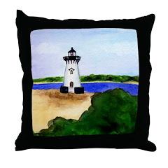 Edgartown Lighthouse Throw Pillow