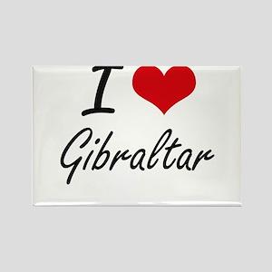 I Love Gibraltar Artistic Design Magnets