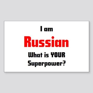 i am russian Sticker (Rectangle)