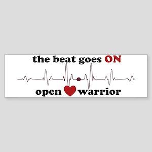 Open heart warrior Bumper Sticker