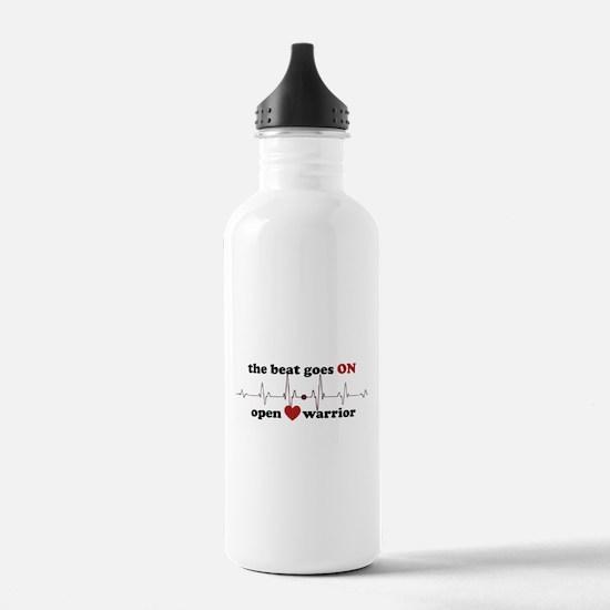 Open heart warrior Water Bottle