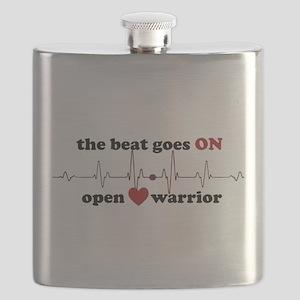 Open heart warrior Flask