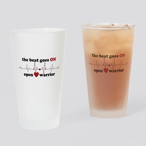 Open heart warrior Drinking Glass