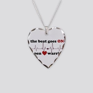 Open heart warrior Necklace Heart Charm