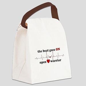 Open heart warrior Canvas Lunch Bag