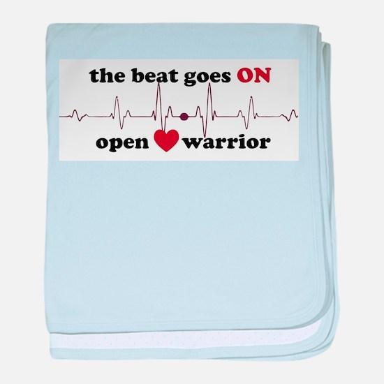 Open heart warrior baby blanket