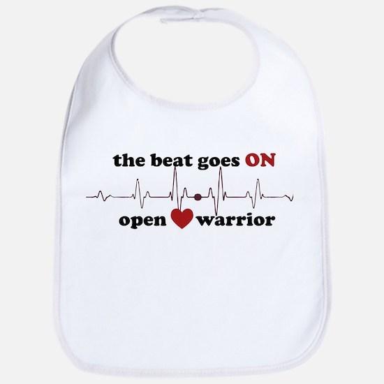 Open heart warrior Bib