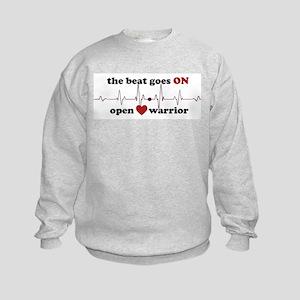 Open heart warrior Kids Sweatshirt