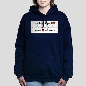 Open heart warrior Women's Hooded Sweatshirt