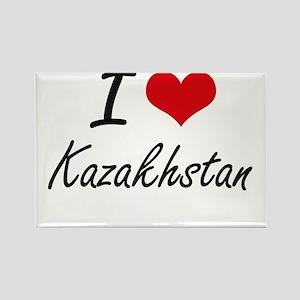 I Love Kazakhstan Artistic Design Magnets