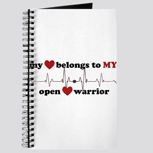 my heart belongs to MY open heart warrior Journal