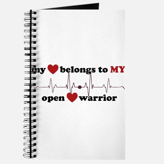 my heart belongs to MY open heart warrior Journal