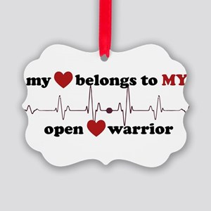 my heart belongs to MY open heart Picture Ornament