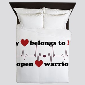 my heart belongs to MY open heart warr Queen Duvet