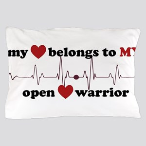 my heart belongs to MY open heart warr Pillow Case