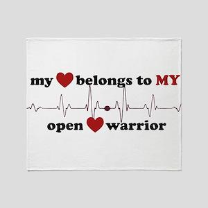 my heart belongs to MY open heart wa Throw Blanket