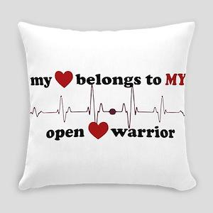 my heart belongs to MY open heart Everyday Pillow