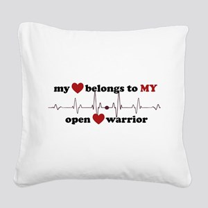 my heart belongs to MY open h Square Canvas Pillow