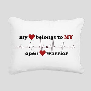 my heart belongs to MY o Rectangular Canvas Pillow