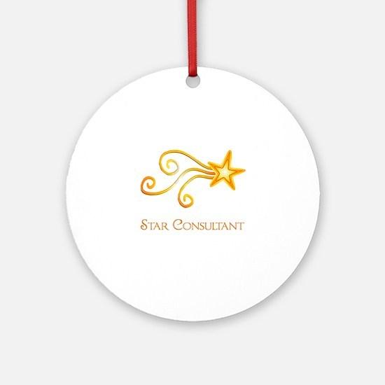 Star Consultant Round Ornament
