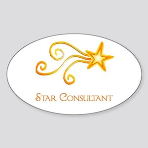 Star Consultant Sticker (Oval)