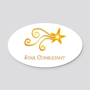 Star Consultant Oval Car Magnet