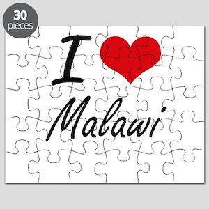 I Love Malawi Artistic Design Puzzle