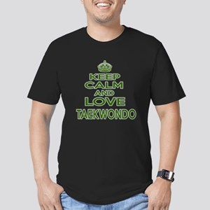 Keep calm and love Tae Men's Fitted T-Shirt (dark)