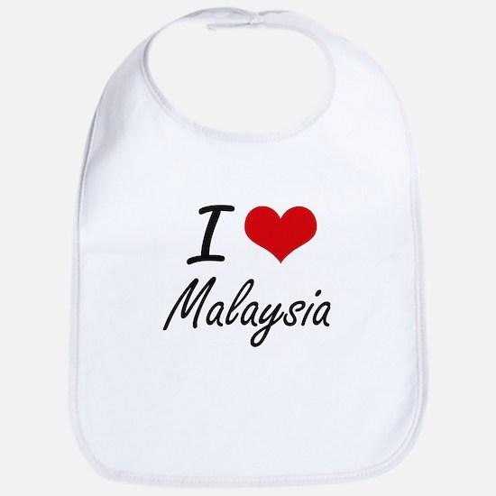 I Love Malaysia Artistic Design Bib