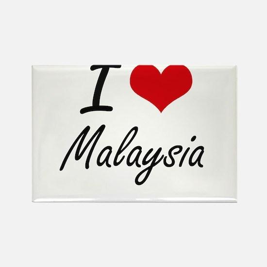 I Love Malaysia Artistic Design Magnets