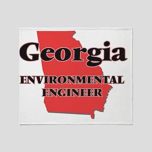 Georgia Environmental Engineer Throw Blanket
