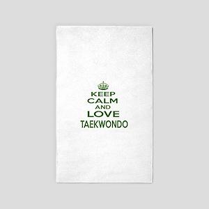 Keep calm and love Taekwondo Area Rug