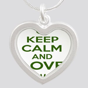 Keep calm and love Taekwondo Silver Heart Necklace