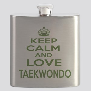 Keep calm and love Taekwondo Flask