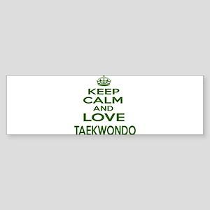 Keep calm and love Taekwondo Sticker (Bumper)