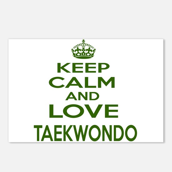Keep calm and love Taekwo Postcards (Package of 8)