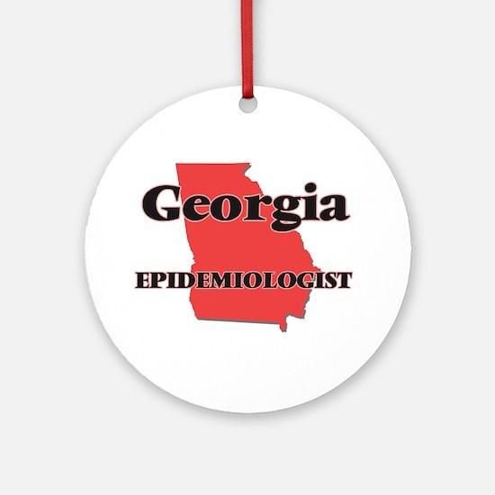 Georgia Epidemiologist Round Ornament