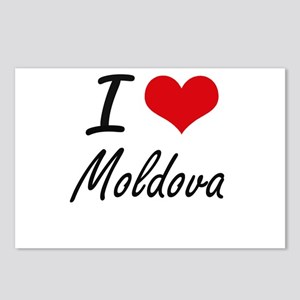 I Love Moldova Artistic D Postcards (Package of 8)