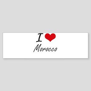 I Love Morocco Artistic Design Bumper Sticker